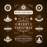 Christmas Decorations Vector Design Elements Stock Photo