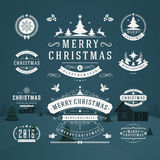 Christmas Decorations Vector Design Elements royalty free illustration