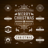 Christmas Decorations Vector Design Elements Royalty Free Stock Photography