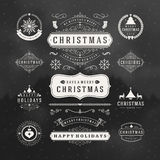 Christmas Decorations Vector Design Elements Stock Photography