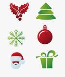 Christmas decorations. Vector graphics, cartoon drawing, Christmas decorations, Christmas material stock illustration