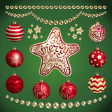 Christmas decorations. Vector set of Christmas decorations royalty free illustration