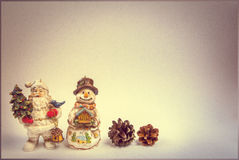 Christmas decorations on a vintage background for a greeting card Stock Photo