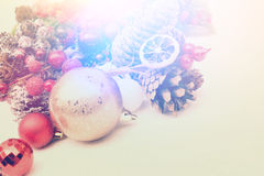 Christmas decorations with vintage effect Royalty Free Stock Photography