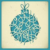 Christmas decorations in vintage style. This is file of EPS10 format stock illustration