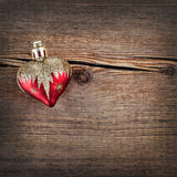 Christmas decorations on Vintage wooden background. New Year toy Royalty Free Stock Photos