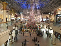 Christmas Decorations at Wafi Mall in Dubai Stock Image