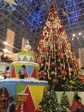 Christmas Decorations at Wafi Mall in Dubai. UAE. The complex includes a mall, hotel, restaurants, residences, and a nightclub Royalty Free Stock Image