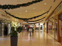 Christmas decorations at the Wafi Mall in Dubai, UAE. The complex includes a mall, hotel, restaurants, residences, and a nightclub Royalty Free Stock Image