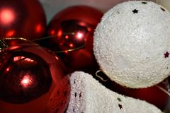 Christmas Decorations Wallpaper.  Royalty Free Stock Images