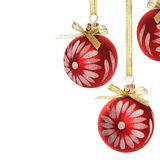 Christmas decorations on the white Royalty Free Stock Image