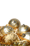 Christmas decorations on white background Stock Photography