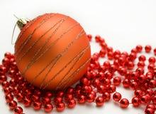 Christmas decorations on white background Stock Photos