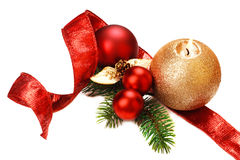 Christmas decorations, on white background. Stock Image