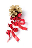 Christmas decorations on a white background Stock Images