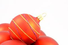 Christmas decorations on white background Royalty Free Stock Photos