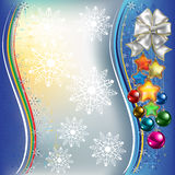 Christmas decorations with white bow Royalty Free Stock Photography