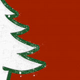 Christmas decorations. White fir with embroidered red background Royalty Free Stock Images