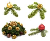 Christmas decorations on white Royalty Free Stock Photography