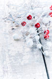 Christmas decorations in white tone Royalty Free Stock Image