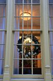 Christmas Decorations in the window Royalty Free Stock Photos