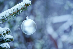 Christmas decorations. Decorations winter old town snow Royalty Free Stock Photography