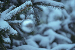 Christmas decorations. Decorations winter old town snow Royalty Free Stock Photo