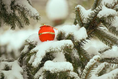 Christmas decorations. Decorations winter old town snow Stock Photography