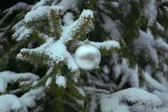 Christmas decorations. Decorations winter old town snow Royalty Free Stock Images