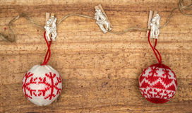 Christmas decorations on wood background. Stock Photography