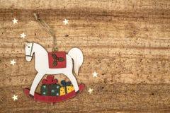 Christmas decorations on wood background. Stock Photos