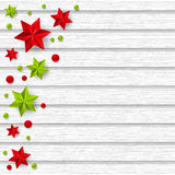 Christmas decorations on wooden background Royalty Free Stock Photography