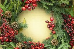Christmas decorations, wreaths and balls, new year holiday. Christmas decorations, wreaths and balls, new year holiday royalty free stock photo