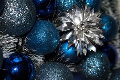 Christmas decorations and wreaths stock photos
