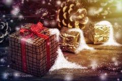 Christmas decorations. Xmas holiday concept. Stock Photo