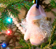 Christmas decorations on xmas tree Stock Photo