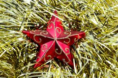 Christmas decorations2. Christmas decoration, red, silver and gold Stock Photo