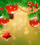 Christmas decorative background Stock Image
