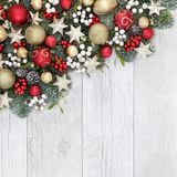 Christmas Decorative Background Border royalty free stock photo