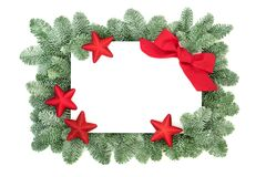 Christmas Decorative Background Border with Stars