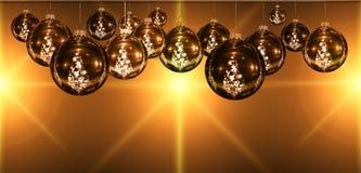 Christmas decorative ball, light and star Royalty Free Stock Photos