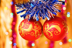 Christmas decorative balls Stock Photos