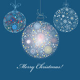 Christmas decorative balls Royalty Free Stock Images