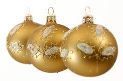 Christmas decorative balls stock photo