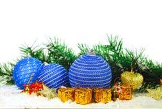 Christmas decorative balls Stock Photos