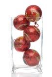 Christmas decorative balls in glass Stock Photos
