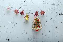 Christmas decorative baubles Royalty Free Stock Images