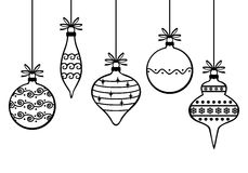Christmas decorative baubles Stock Images
