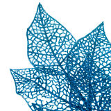Christmas decorative blue  leaves Royalty Free Stock Photography