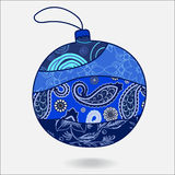 Christmas decorative  boll.patchw. Stock  christmas decorative  boll.patchwork design illustration Royalty Free Stock Photos